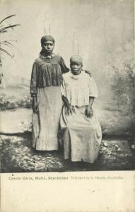 seychelles, MAHÉ, Creole Girls, Head Transport (1899)