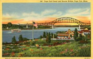 MA - Cape Cod. Bourne Bridge and Canal