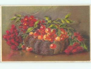 Very Old Foreign Postcard BEAUTIFUL FLOWERS SCENE AA4201