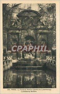 Old Postcard PARIS La Fontaine Medicis