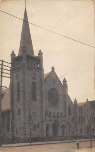 NEW JERSEY CHURCH REAL PHOTO POSTCARD c1910s