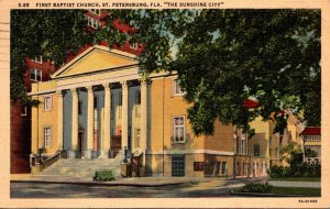 Florida St Petersburg First Baptist Church 1942 Curteich