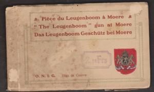 The Leugenboom Greman WW I Gun At Moere France - Intact Booklet Of 10 - Rare