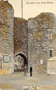 CONWAY CLWYD WALES~LOW GATE FROM QUAY-1907 TINTED PHOTO POSTCARD