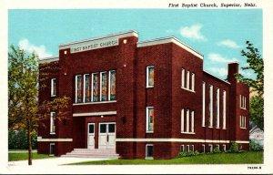 Nebraska Superior First Baptist Church Curteich