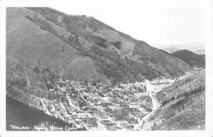 Wallace Idaho Bird's Eye View from Hillside~Mining Center~1950s RPPC-Postcard