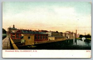 Claremont New Hampshire~Monadnock Textile Mills~Factory Complex~Sugar River~1908
