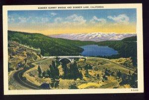Donner Lake, California/CA Postcard, Donner Summit Bridge