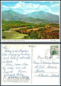 NORTH CAROLINA Postcard - Peaks Of Otter Along Blue Ridge Parkway AZ4