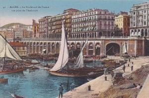 Algeria Alger Le Boulevard de France vue prise de l'Amiraute