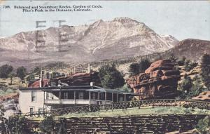 Balanced And Steamboat Rocks, Garden Of Gods, Pike's Peak In The Distance, Co...