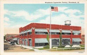 F47/ Woodstock Illinois Postcard c1940s Typewriter Factory Building
