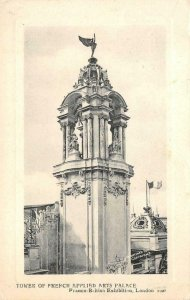 Tower of French Applied Arts Palace Franco-British Exhibition UK 1908 Postcard