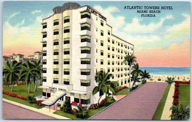 Miami Beach Florida Postcard Atlantic
