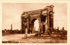 Algeria - Timgad. The Arch of Trajan