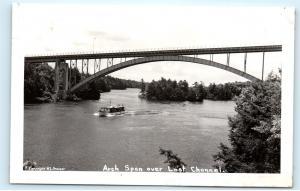 *Bridge Arch Span Lost Channel Parry Sound District Ontario Canada Postcard C42