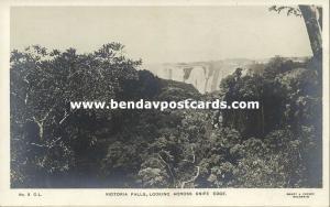 rhodesia, Victoria Falls, Looking across Knife Edge (1930s) RPPC
