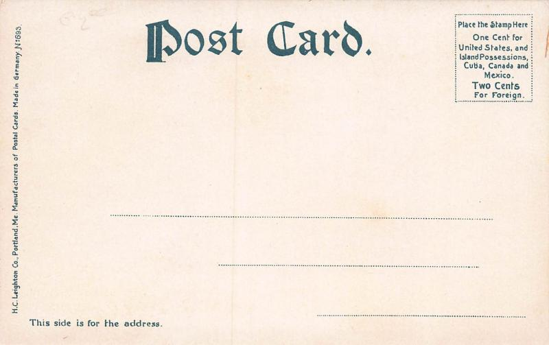 Art Institute at Lake Front, Chicago, Illinois, Very Early Postcard, Unused