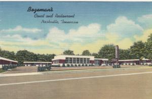 NASHVILLE, Tennessee, 30-40s ; Bozeman's Court & Restaurant