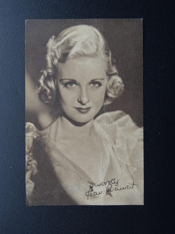 Actress JOAN BENNETT c1930's Mini Postcard