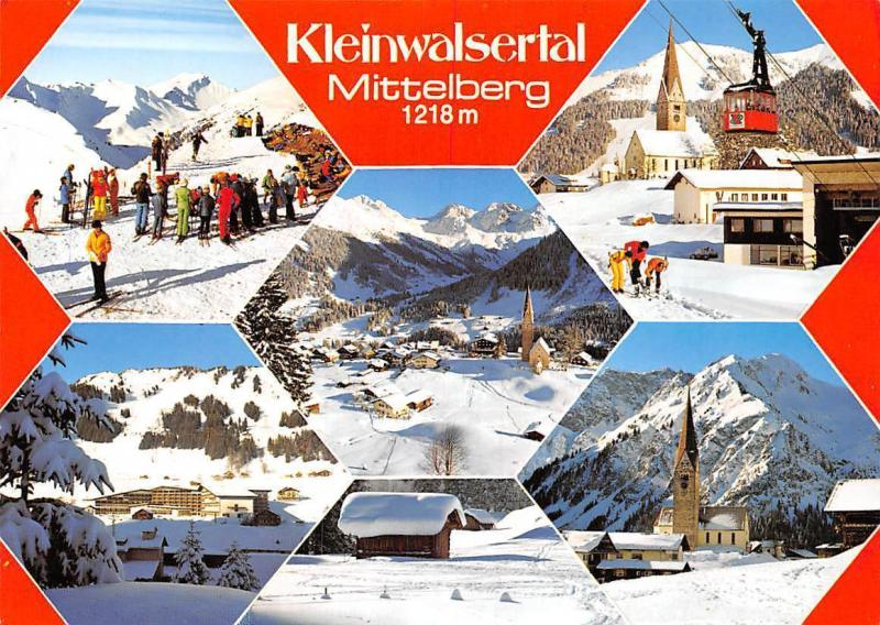 Kleinwalsertal Mittelberg Winter Kirche Church Cable Car General view