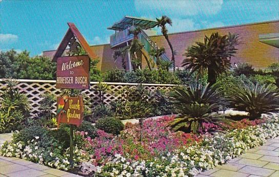 Floral Path And Escalatoer To Observation Deck At Busch Gardens Tampa Florida