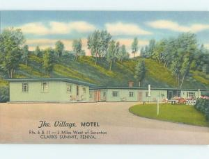 Unused Linen MOTEL SCENE Clarks Summit Pennsylvania PA hk0817