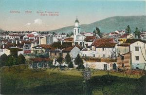 Italy Gorizia Gorz Borgo Prestan con Monte Sabotino