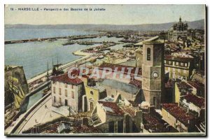 Postcard Old Marseille Perspective Joliette Basins