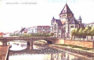 Strasbourg Synagogue, Judaic, Judaica, Postcard Postcards writing on back