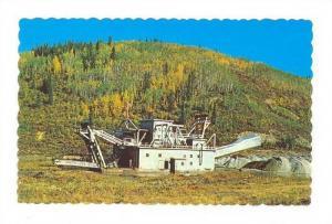 Gold Dredge at a gold creek near Dawson City, Yukon, Canada, 40-60s