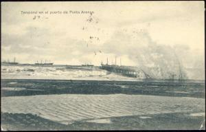 chile, PUNTA ARENAS, Temporal en el Puerto (1910s)