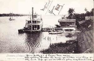 Mexico - Frontera, Tabasco RP RIver Boat 1908