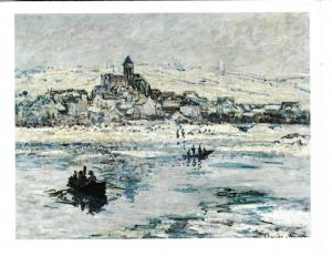 Post Card Art Vetheuil in Winter by Claude-Oscar Monet The Frick Collection