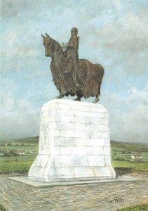 Scotland Art Postcard Statue of Robert the Bruce, Bannockburn by Sue Firth IJ3
