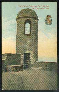 FL Old watch tower Fort Marion St Augustine Florida Vintage Unused  ca 1910 P