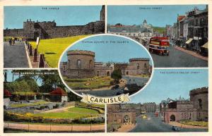 Carlisle Castle English Street, Eden Bridge Gardens Courts Square Bus Cars 1965