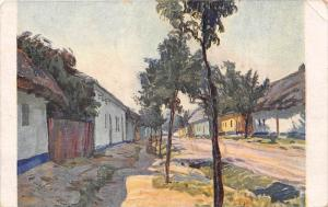 484 Artist drawn   Local Village,  A. Kalvoda,