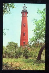 Daytona Beach, Florida/FL Postcard, Lighthouse/Light At Inlet Harbor