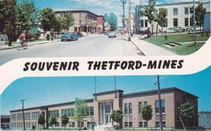 Classic Cars, Street View, Commercial Center, Thetford-Mines, Quebec, Canada,...