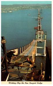 Rhode Island   Working atop of New Newport Bridge