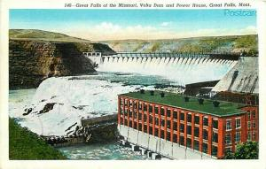 MT, Great Falls, Montana, Volta Dam, Power House, Great Falls, Robbins No. 63577