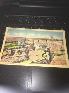 Vtg Postcard: Famous Sinking Farm, Salmon Canyon, Southern Idaho