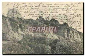 Old postcard Beuzeval cliffs coast Dives