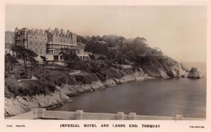 TORQUAY DEVON UK IMPERIAL HOTEL~COX PHOTO PAIGNTON REAL POSTCARD 1937