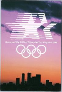 1984 23rd Olympics Los Angeles Skyline at Sunset