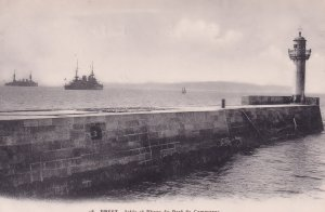 Brest Military Ships Antique French Postcard