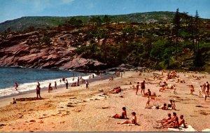 Maine Bar Harbor Acadia National Park Sand Beach
