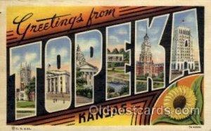 Topeka, Kansas Large Letter Town 1944 postal used 1944