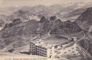 Switzerland Sommet des Rochers de Naye et les Alpes